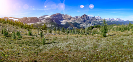 panoramic view of mountains in banff
