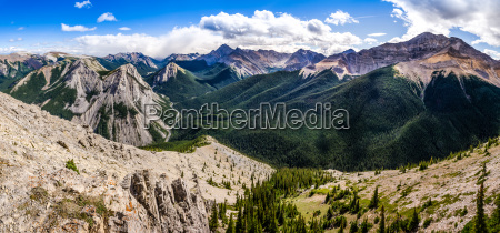 panoramic view of rocky mountains range