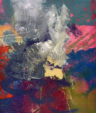 painting abstract opaque glazing