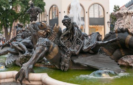 the ehekarusell fountain in nuremberg