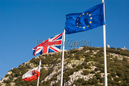 flags of the european union united