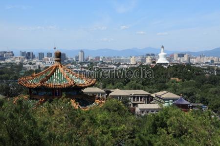 the skyline of beijing