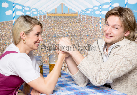 couple in the marquee