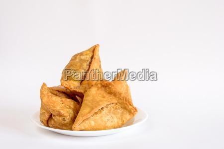 plate of samosas