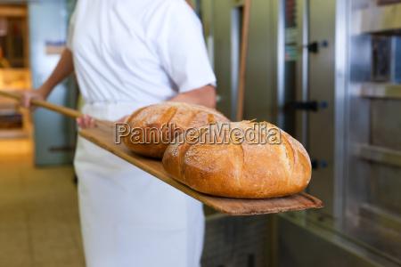 baker when baking bread