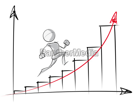 simple people exponential growth chart