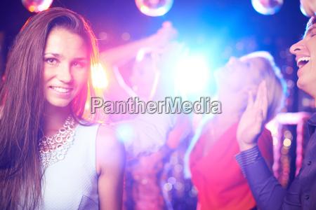 attractive partygoer