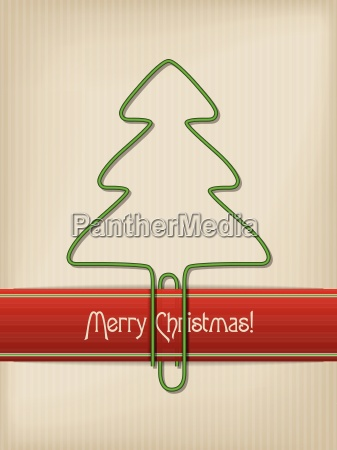 striped christmas greeting with tree shaped