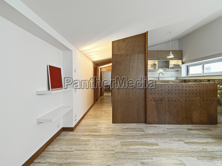 interior view of apartment with wood