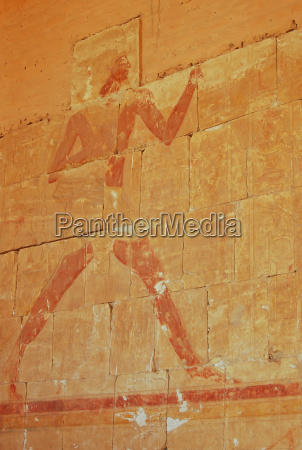 ancient egyptian painting of pharoah on
