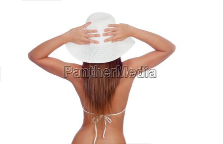 attractive female body with bikini and