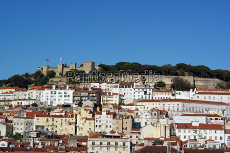 view over the castle hill and
