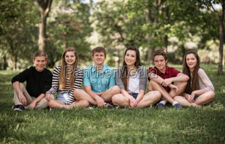 group of teens outdoors