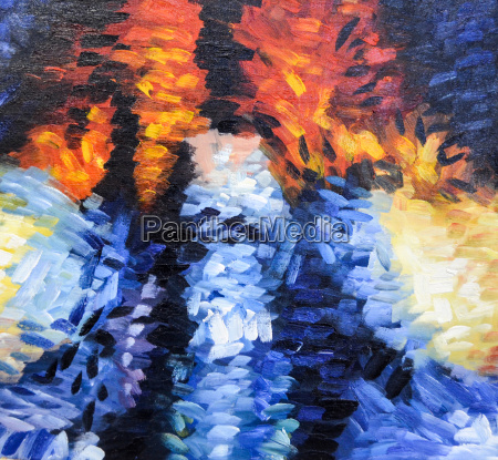 impressionism abstract painting structure