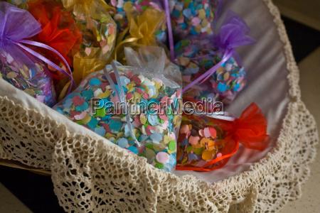 wedding confetti basket