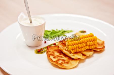 corn pancakes