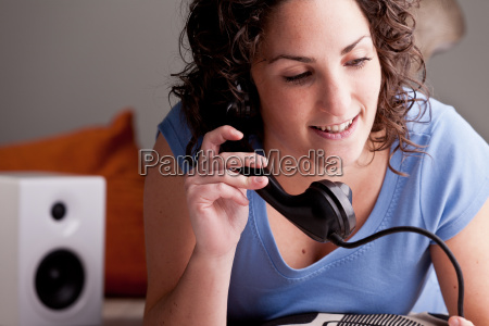 ghirl chatting on the telephone