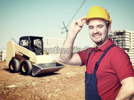 handyman at construction site