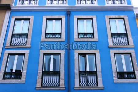 detail of a building lisbon portugal