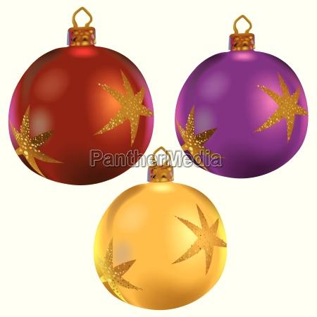 christmas balls with stars
