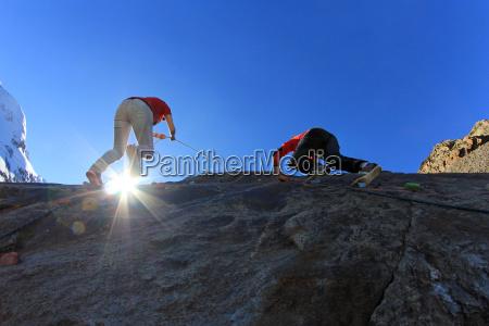 on the climbing towards the sky