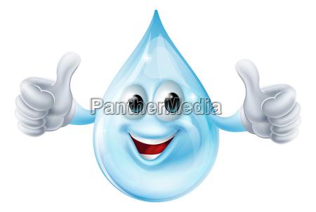 water drop character
