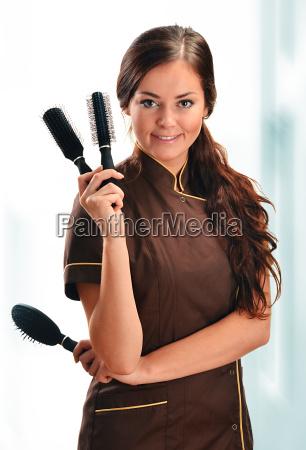 mulher uniforme cosmeticos cosmetico maquiagem profissional