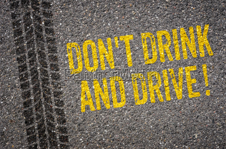 asphalt with the text dont drink