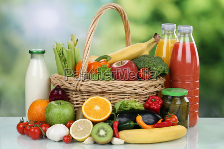 fruits vegetables drinks food purchases in