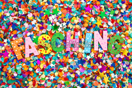 carnival in colorful letters