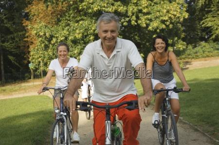 mature adults cycling