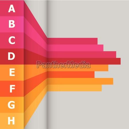 bandeira horizontal com linhas coloridas