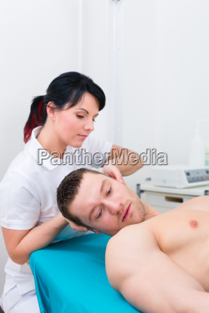 physiotherapist dislocates patient back into practice
