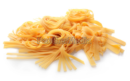 close up fresh flat italian pasta