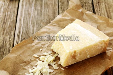 wedge of parmigiano reggiano cheese