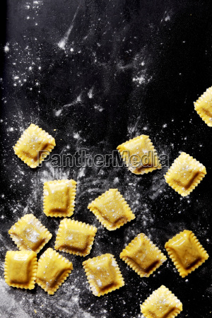 fresh pasta sheets stuffed with filling