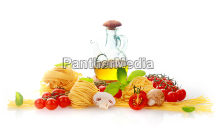 fresh ingredients for italian pasta