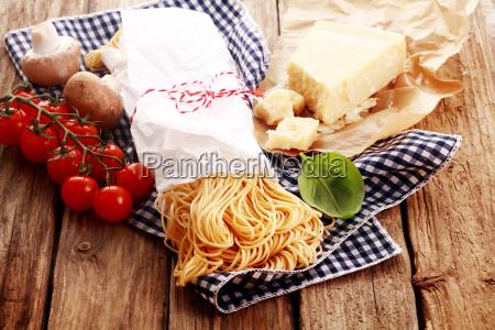 preparing homemade italian pasta