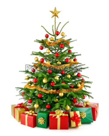 perfect christmas tree with gifts