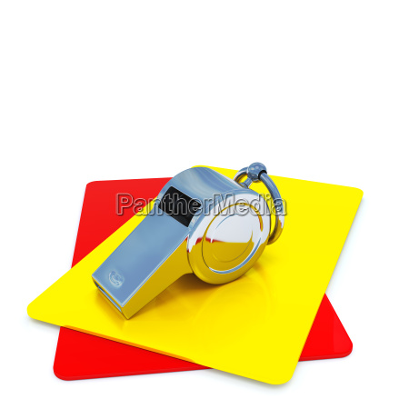 referee whistle with cards