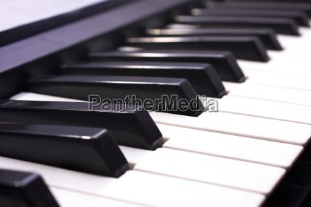 piano key close up shot