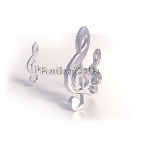 three clef
