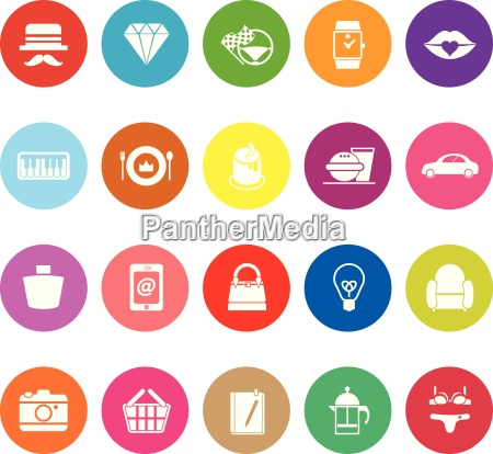 department store item category flat icons