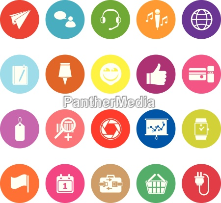 technology gadget screen flat icons on