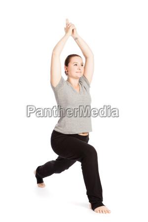 einzelpose the sun salutation in yoga