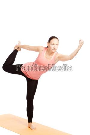 yoga exercise on the mat shiva