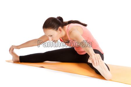 yoga exercise on the mat konasana