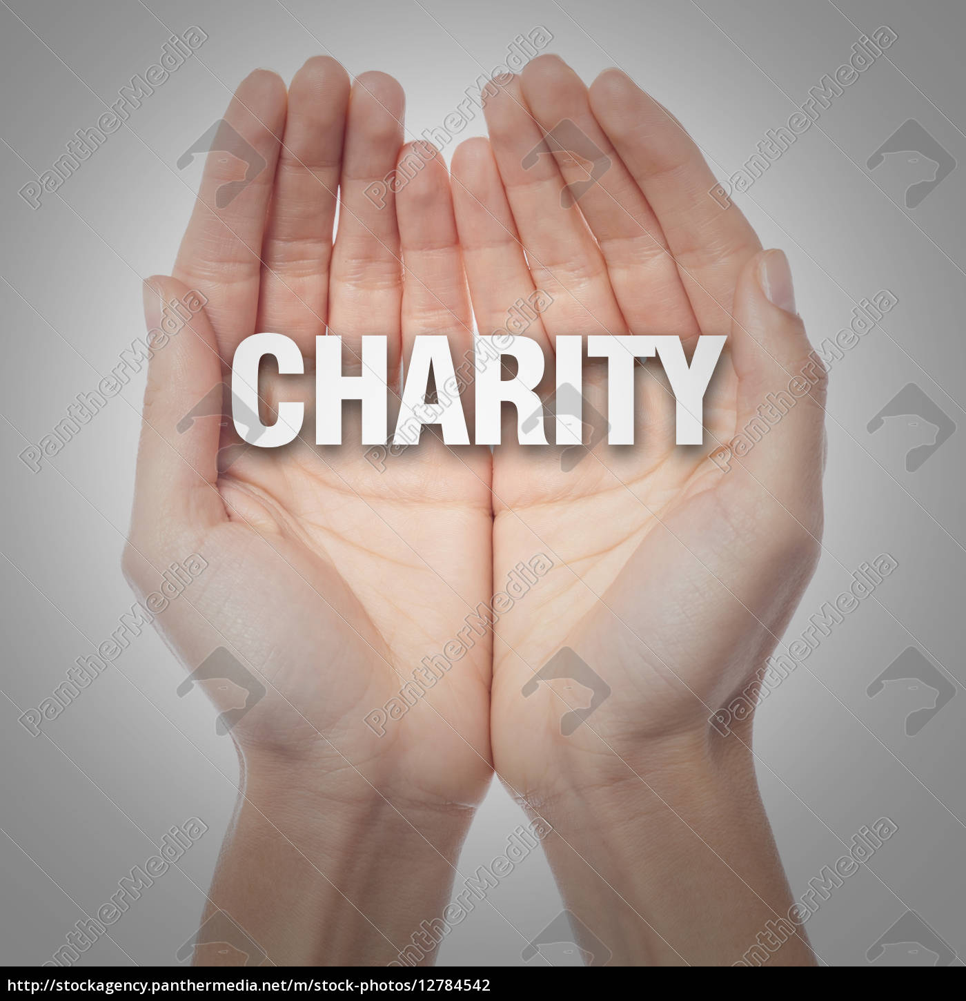 open, palms, with, word, charity - 12784542