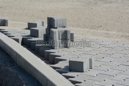 laying of concrete pavements