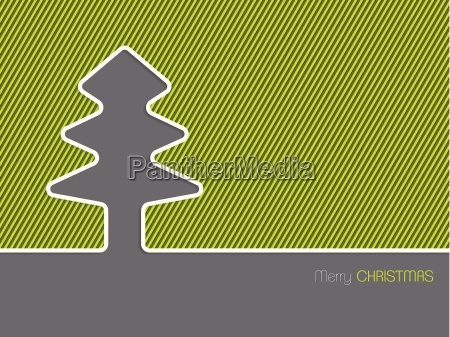 simple christmas greeting card withgreen background